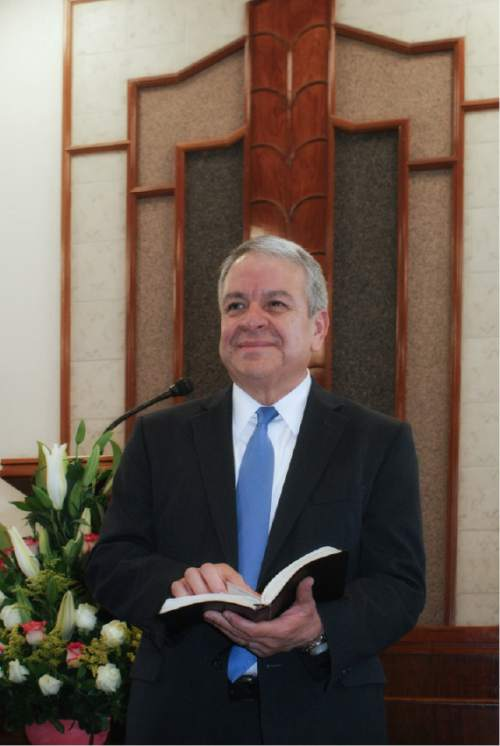 Courtesy  |  LDS Church  Mexican LDS Area Authority Benjamín De Hoyos urges Mormons to oppose efforts to legalize same-sex marriage throughout the country.