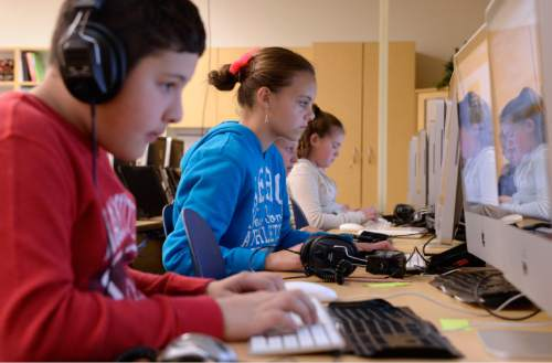 Al Hartmann     Tribune file photo Sixth graders at Fox Hollow Elementary School in Lehi take the state SAGE test in April 2015. Many parents at the school in the Alpine District are having their children opt out of state SAGE testing.