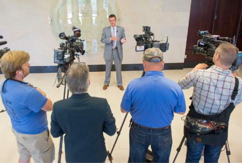 Rick Egan     The Salt Lake Tribune  FBI special Agent in Charge Eric Barnhart answers questions in the wake of the Orlando shooting, at the FBI headquarters in Salt Lake CIty, Thursday, June 16, 2016.