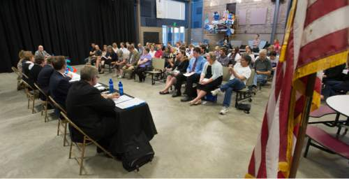 Steve Griffin  |  The Salt Lake Tribune  Candidates for the District 7 seat of the state school board answer questions during a debate hosted by the Hinckley Institute of Politics, the Sutherland Institute, KSL and the Utah Association of Public Charter Schools at the Salt Lake Arts Academy in Salt Lake City on Wednesday, June 15, 2016.