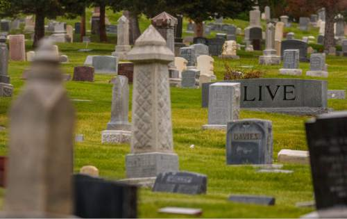 Trent Nelson  |   Tribune file photo Monuments and grave markers at the Salt Lake City Cemetery.