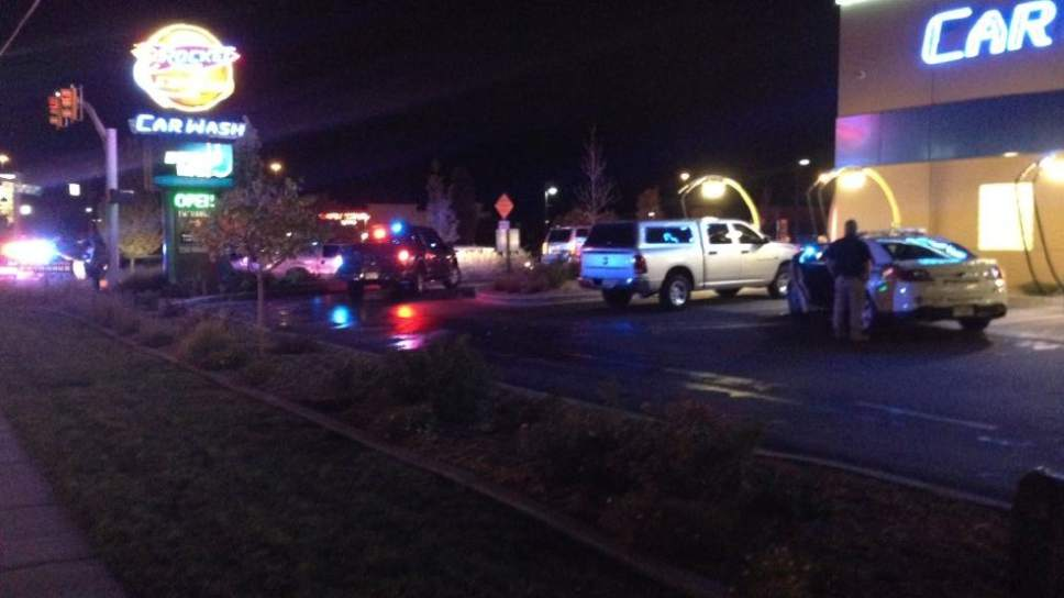 Jeremy Harris  |  Courtesy of KUTV Unified police were involved in a shooting Friday night near 7200 S. 150 West in Midvale.