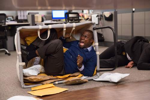 """This image released by Warner Bros. Entertainment shows Kevin Hart in a scene from, """"Central Intelligence."""" (Claire Folger/Warner Bros. Entertainment Inc. via AP)"""