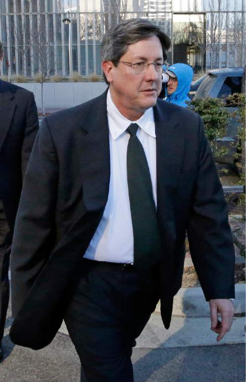 FILE - In this Jan. 21, 2015 file photo, Lyle Jeffs leaves the federal courthouse in Salt Lake City. Polygamous sect leader Jeffs is being let out of jail pending trial on accusations he helped orchestrate a multimillion-dollar food stamp fraud scheme. U.S. District Judge Ted Stewart in Salt Lake City on Thursday, June 9, 2016 granted Jeffs' latest request to be released, citing the fact that the other 10 defendants already out have complied with conditions set by the court. (AP Photo/Rick Bowmer, File)