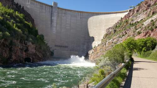 Courtesy of Daggett County Sheriff's Office Releases of excess dam water has made Green River safety a concern.