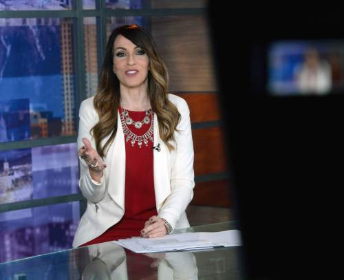 "Al Hartmann  |  The Salt Lake Tribune  Univision Salt Lake City news director and anchorwoman Irene Caso presents the 5 p.m. ""Noticias 32 Salt Lake City"" newscast. Census data show that Latinos just passed a key milestone: more than 400,000 now live in the state."