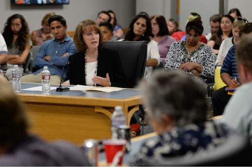 Francisco Kjolseth    The Salt Lake Tribune The Utah Board of Education chose Sydee Dickson on Thursday, June 23, 2016, to be its the state's next superintendent. Taran Chun, not pictured, was the other finalist to replace Brad Smith, who vacated the post earlier this year. Dickson has served as interim superintendent since then. Chun is an administrator from Alpine School District.