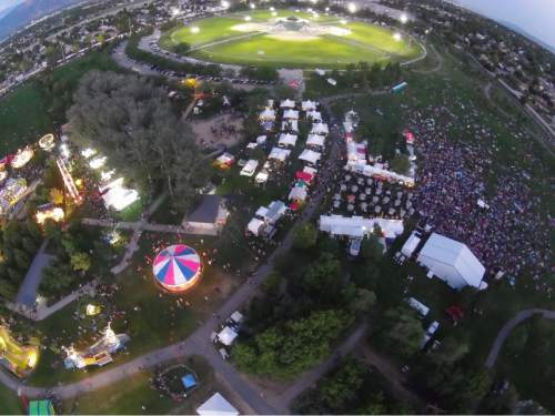 |  Courtesy  An aerial view of a past Taylorsville Dayzz celebration at Gary Swensen Valley Regional Park.