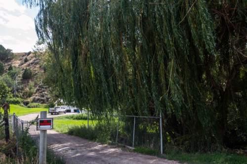 Chris Detrick  |  The Salt Lake Tribune The home where up to a dozen FLDS kids were found last week in Pocatello, Idaho Wednesday August 20, 2014.