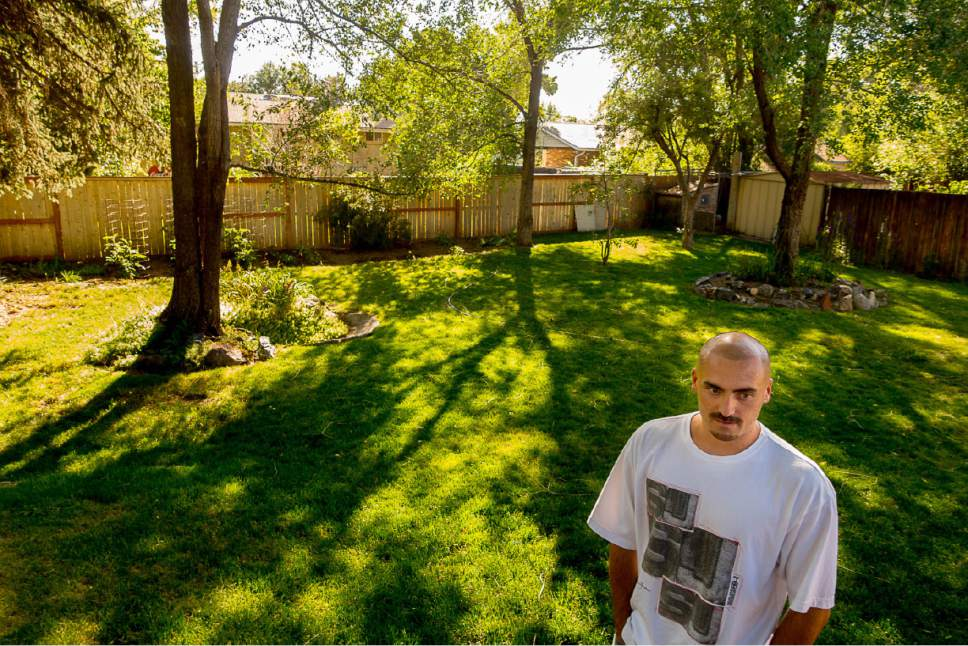 Trent Nelson  |  The Salt Lake Tribune Weldon Angelos at home after serving more than 12 years in prison on federal gun and drug charges. Angelos has been spending time with his family and wants to give talks to at-risk youth about his story. Angelos was released on May 31 after his 55-year mandatory sentence was reduced. Angelos was photographed at his home in Sandy, Thursday June 16, 2016.
