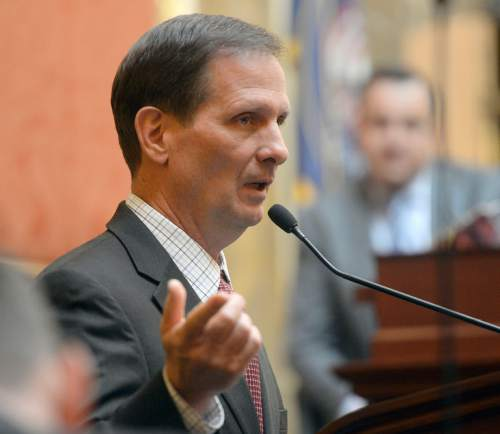 Al Hartmann  |   Tribune file photo Rep. Chris Stewart, R-Utah, pictured here in January speaking to the state Legislature, is the state's least-known member of Congress. Nearly two-thirds of voters come up empty when asked their opinion of him.