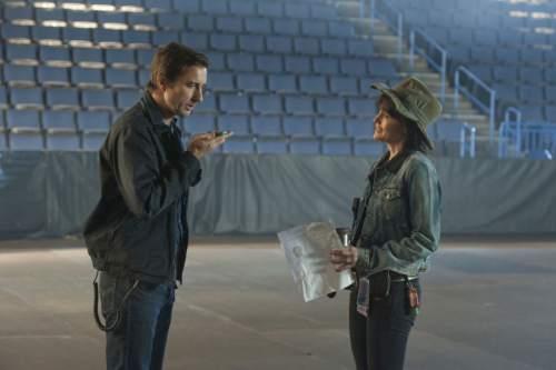 "Luke Wilson as Bill and Carla Gugino as Shelli in ""Roadies."" Neal Preston  |  Showtime"