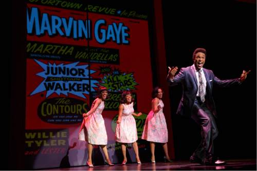 """Actor Jarran Muse plays Marvin Gaye in """"Motown the Musical."""" Joan Marcus  