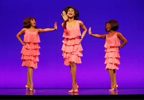 """Courtesy photo  Krisha Marcano (Florence Ballard), Allison Semmes (Diana Ross) and Trisha Jeffrey (Mary Wilson) perform as The Supremes in """"Motown the Musical,"""" which plays in Salt Lake City June 28 through July 3 at the Capitol Theatre. Photo courtesy Joan Marcus"""