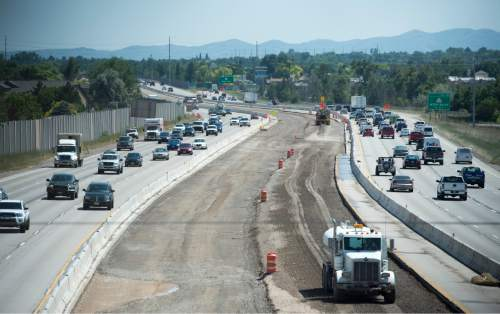 Rick Egan  |  The Salt Lake Tribune Construction on Interstate 215, looking south from 4100 South,  Monday, June 27, 2016.