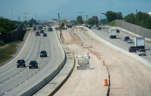 Rick Egan  |  The Salt Lake Tribune  Construction on Interstate 215, looking North  from 4100 South,  Monday, June 27, 2016.