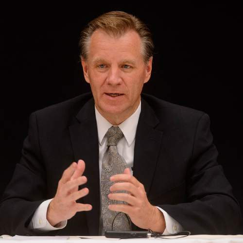 Trent Nelson  |  The Salt Lake Tribune David Crandall Ô Candidate for the Utah State Board of Education, District 10