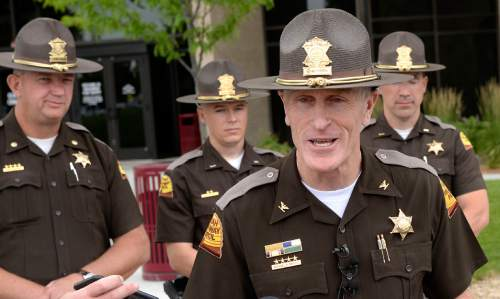 Al Hartmann     The Salt Lake Tribune  New Utah Highway Patrol Col. Michael Rapich speaks at a news conference in Taylorsville Wed. June 29.  He expects the Fourth of July weekend to have the heaviest traffic of the year, and the UHP is hoping to minimize fatalities.  They will be out in force throughout the state but are paying attention to agressive driving along the Wasatch front.  Unmarked cars will be out too.
