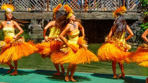 | Courtesy The Church of Jesus Christ of Latter-day Saints Polynesian Cultural Center hip dance