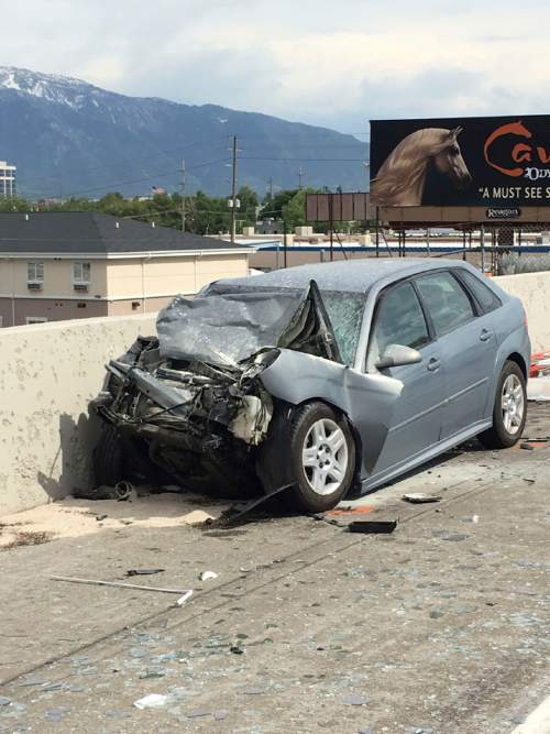 Courtesy  |  KUTV  A 77-year-old man died Monday after a crash on Interstate 15 near Murray.