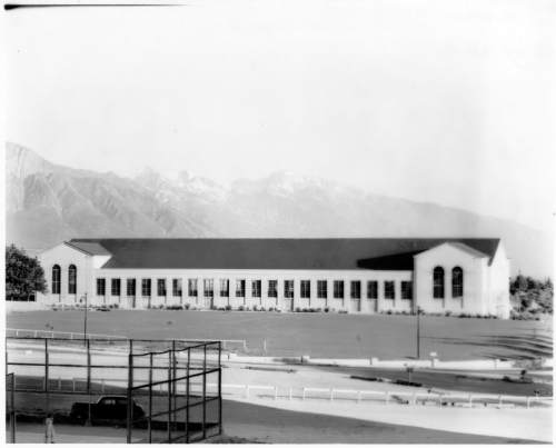 Courtesy of Special Collections, Marriott Library, University of Utah The early days of Einar Nielsen Fieldhouse at the University of Utah.