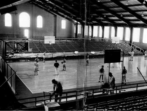 |  Tribune file photo  The interior of the University of Utah's Einar Nielsen Fieldhouse is seen in this 1940 photo.