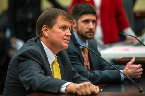 Chris Detrick     The Salt Lake Tribune Rep. Keven J. Stratton, R-Orem, talks about HB0335 during a House Education Committee meeting in Feb.