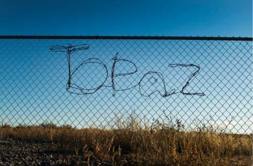 Rick Egan  |  The Salt Lake Tribune  The central Utah relocation center, at Topaz, near Delta, Wednesday, November 11, 2015.