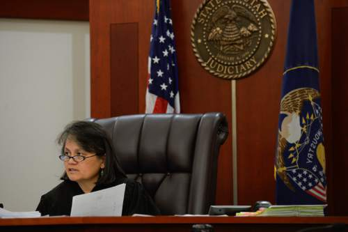Francisco Kjolseth   The Salt Lake Tribune Judge Vernice Trease runs through a busy morning docket in her courtroom at the Matheson courthouse on Friday, July 8, 2016.