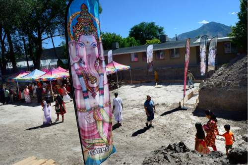 Scott Sommerdorf   |  The Salt Lake Tribune   The foundation has been dug and forms laid for the new Krishna Temple designed by Vaibhavi Devi, who worked on the Spanish Fork Krishna Temple, Sunday, July 10, 2016.