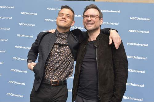 """Rami Malek and Christian Slater star in """"Mr. Robot"""" on USA Network.  Photo by: Theo Wargo/NBCUniversal"""