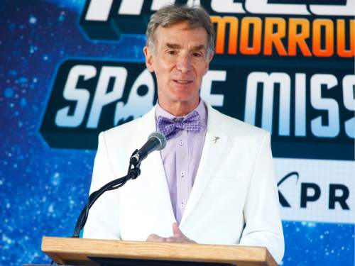 "FILE - In this July 16, 2015 file photo, Bill Nye attends the Disney Junior and XPRIZE launch of ""Miles from Tomorrowland: Space Missions"" at the New York Hall of Science, in New York. Nye, the former host of TV's ""Bill Nye the Science Guy,"" has written ""Unstoppable: Harnessing Science to Change the World,"" releasing Tuesday, Nov. 10, by St. Martin's Press. (Photo by Andy Kropa/Invision/AP, File)"