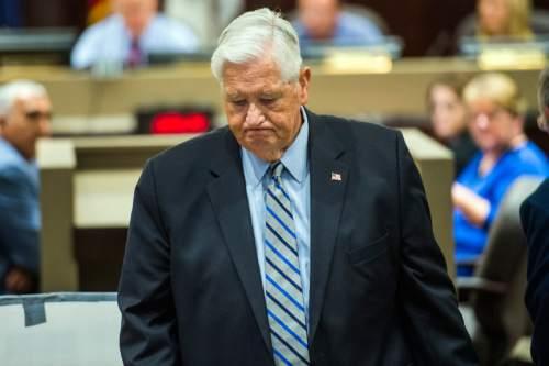 Chris Detrick  |  Tribune file photo Utah Transit Authority Board Chairman H. David Burton, shown here in August 2015, addressed the Utah Legislature Wednesday.