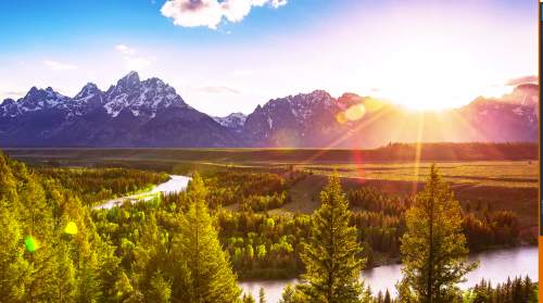 A screen shot from Jim and Will Pattiz's latest video, featuring Grand Teton National Park, in their More Than Just Parks series.