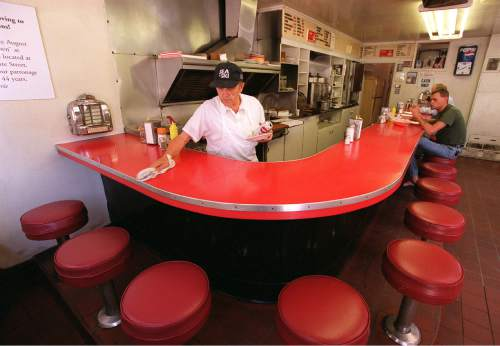Trent Nelson  |  The Salt Lake Tribune  Morrie Daras, owner of Snappy Service Lunch August 2, 2001. The diner is moving from its quaint downtown location to Jordan Commons after 44 years of business.