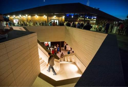 "Rick Egan  |  The Salt Lake Tribune  Intermission during the Utah Shakespeare Festival production of ""Henry V"" at the new Engelstad Shakespeare Theatre, Cedar City, Thursday, July 7, 2016."
