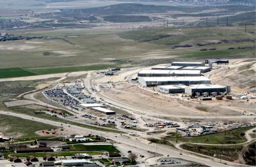 Francisco Kjolseth | Tribune file photo  An aerial view of the NSA's Utah Data Center in Bluffdale, Utah. Observers say the reform legislation passed by Congress limiting phone-record surveillance should have little impact on the Utah center, which is mainly used for storing foreign information.