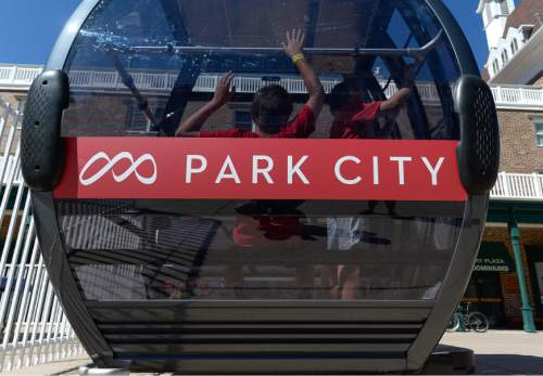 Francisco Kjolseth | Tribune file photo A gondola reveals a combination of the two logo's from the former Park City Mountain Resort and the Canyons Resort that have been combined by owner Vail Resorts. The company has now moved to trademark the Park City name, alarming some residents and businesses.