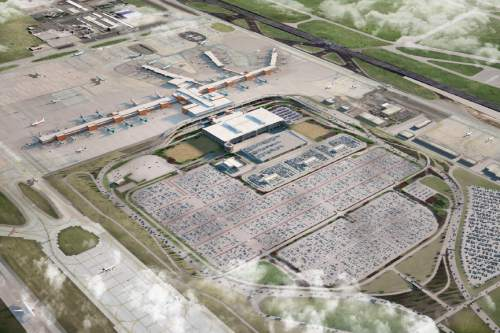 photo courtesy Salt Lake City International Airport  This rendering shows a view of what the airport remodel may look like.