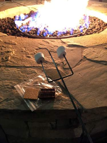 Heather L. King  |  Courtesy  The Marriott Summit Watch in Park City provides a roasting stick and a  ingredients needed for one gooey s'more. It's available for a $2 donation to Children's Miracle Network Hospitals.