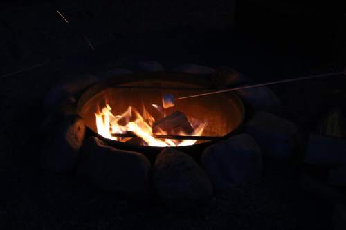 Heather L. King     Courtesy  One of the favorite activities at Bear Lake's Conestoga Ranch in Garden City, is roasting marshmallows for s'mores.