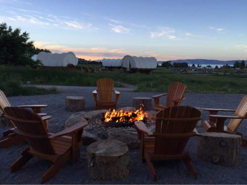Heather L. King  |  Courtesy  One of the favorite activities at Bear Lake's Conestoga Ranch in Garden City, is roasting marshmallows for s'mores.