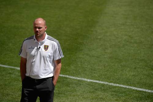 Francisco Kjolseth | The Salt Lake Tribune RSL General Manager Craig Waibel speaks with the media regarding the announcement of player Juan Manuel Martinez, nicknamed 'El Burrito,' who was officially introduced as the newest player at RSL after a standout career at one of the best clubs in South America, Boca Juniors.