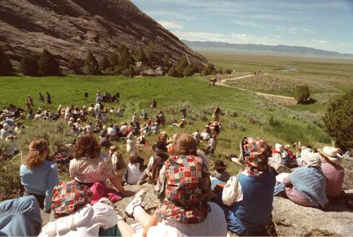 Rick Egan  |  Tribune file photo  A crowd gathers at Martin's Cove in this photo from 2001.