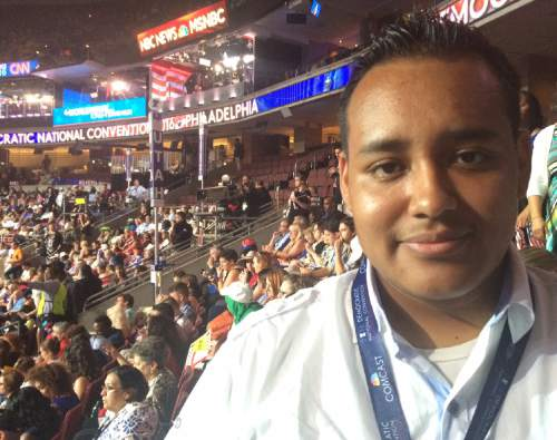 Thomas Burr  |  The Salt Lake Tribune  Kevin Perez, Utah delegate to the Democratic National Convention, is worried about immigration policy under a Donald Trump administration. He is the son of an undocumented immigrant and says his mother is the person he most admires in this world.