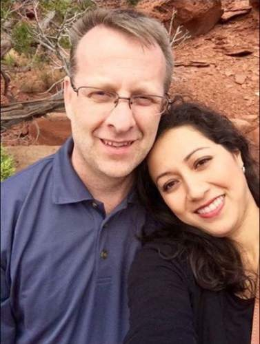 |  Courtesy Kelly Ann Booth  Kent Hart and his wife, Giovanna Altez-Hart.