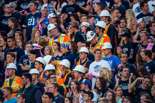 Chris Detrick  |  The Salt Lake Tribune BYU fans watch during the game at LaVell Edwards Stadium Friday October 16, 2015.