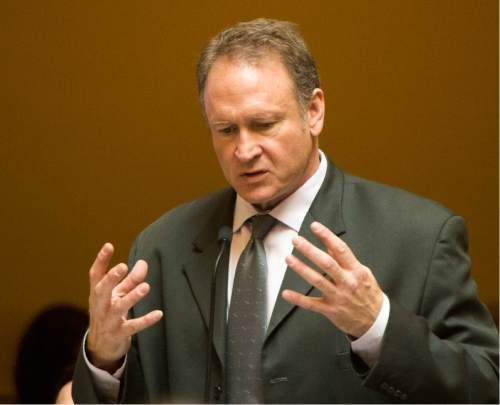 Rick Egan  |  Tribune file photo  Utah state Sen. Mark Madsen R-Saratoga Springs, is bolting the Republican Party and is signing up as a Libertarian.