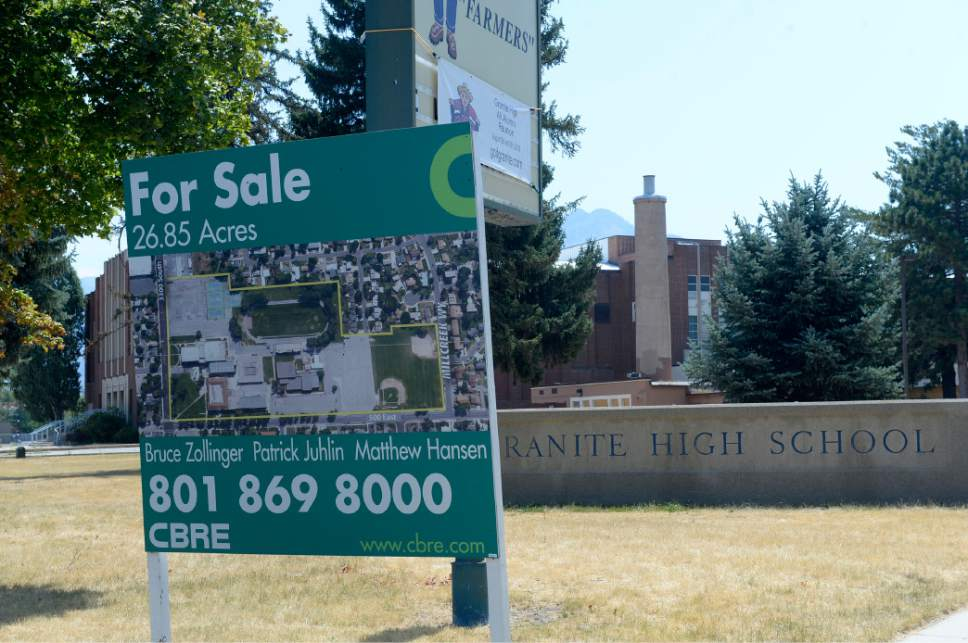 Al Hartmann  |  The Salt Lake Tribune  Granite School District has approved a plan for the old Granite High School at 3300 S. 500 E. in South Salt Lake to be torn down to make room for a residential development.