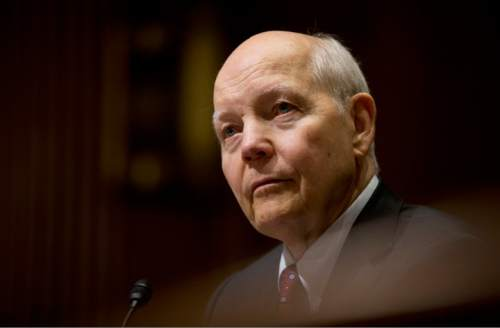Internal Revenue Service Commissioner John Koskinen, testifies before a Senate Finance Committee hearing on President Barack Obama's Fiscal Year 2017 budget request for the IRS, on Capitol Hill in Washington, Wednesday, Feb. 10, 2016. (AP Photo/Manuel Balce Ceneta)